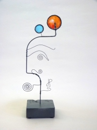 Prayer Machine 334 S 2/4. Joy - Wire Sculpture by James Paterson. Ontario, Canada