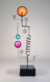Prayer Machine 358. Trust In The Silence - Wire Sculpture by James Paterson, Ontario, Canada