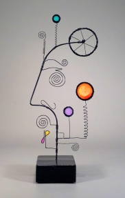 Prayer Machine 359. He Lifts Me Up - Wire Sculpture by James Paterson, Ontario, Canada
