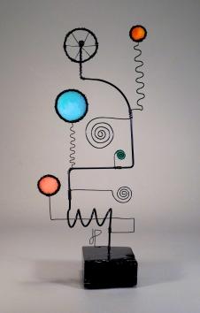 Prayer Machine 362. You Speak - Wire Sculpture by James Paterson, Ontario, Canada