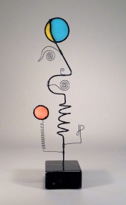 Prayer Machine 364. I Said I Trust You - Wire Sculpture by James Paterson, Ontario, Canada