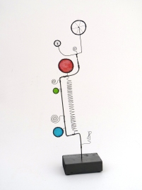 Prayer Machine 277 S 1/4. In Solitude - Wire Sculpture by James Paterson, Ontario, Canada