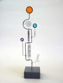 Prayer Machine 294 S 4/4. I Will Follow You - Wire Sculpture by James Paterson, Ontario, Canada