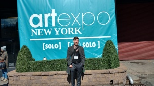 Hamish Paterson in New York at Artexpo, April 2018