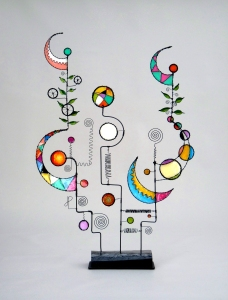 Prayer Machine 369. Listening Is The IntimacyOf Perfect Love - Wire Sculpture by James Paterson, Ontario, Canada