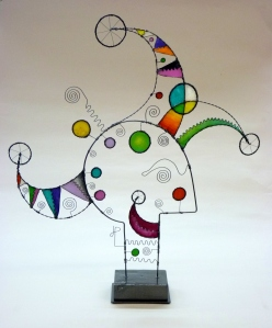 Prayer Machine 374. The Truth Is Really What Is Radical - Wire Sculpture by James Paterson, Ontario, Canada