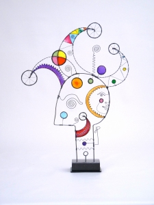 Prayer Machine 376. You Give Me The Love I Most Long For - Wire Sculpture by James Paterson, Ontario, Canada