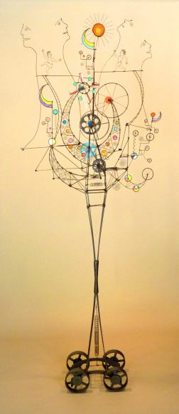 Prayer Machine 367. My True Prayer Is A Place Of Reckless Confidence - Wire Sculpture by James Paterson, Ontario, Canada