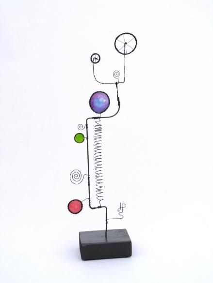 Prayer Machine 277 3/4 - Wire Sculpture by James Paterson, Ontario, Canada