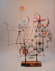 Prayer Machine 411. Yours Is An Overwhelming, Never Ending, Reckless Carnival Of Love - Wire Sculpture by James Paterson, Ontario, Canada