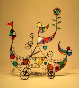 Prayer Machine 415. You've Come To A Place Of Magic - Wire Sculpture by James Paterson, Ontario, Canada