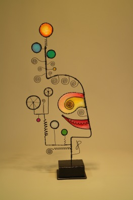 Prayer Machine 422. Imagination Feeds My Faith - Wire Sculpture by James Paterson, Ontario, Canada