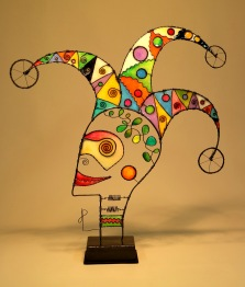 Prayer Machine 425. Don't Be Fooled By Ideas That Fit Easily - Wire Sculpture by James Paterson, Ontario, Canada