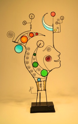 Prayer Machine 429. We Are Divine Commodities - Wire Sculpture by James Paterson, Ontario, Canada