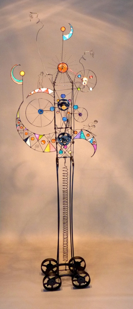 Prayer Machine 382. The Desires You Awaken Reveal The Inclination Of My Being - Wire Sculpture by James Paterson, Ontario, Canada
