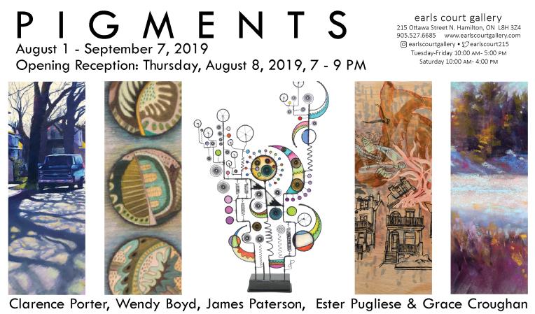 Art show opening invitation, Hamilton, Ontario, Canada